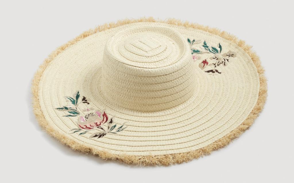 Flowers straw hat, €29.95 at mango.com