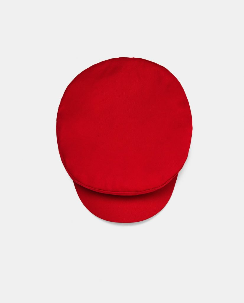 Red newsboy cap, €15.95 at zara.com