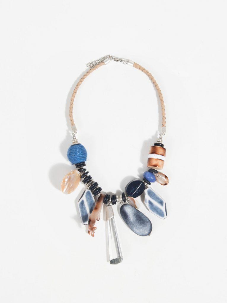 Denim blue necklace, €19.99 at parfois.com