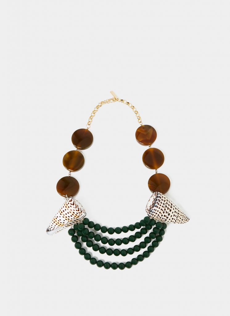 Seashell necklace, €115 at uterque.com