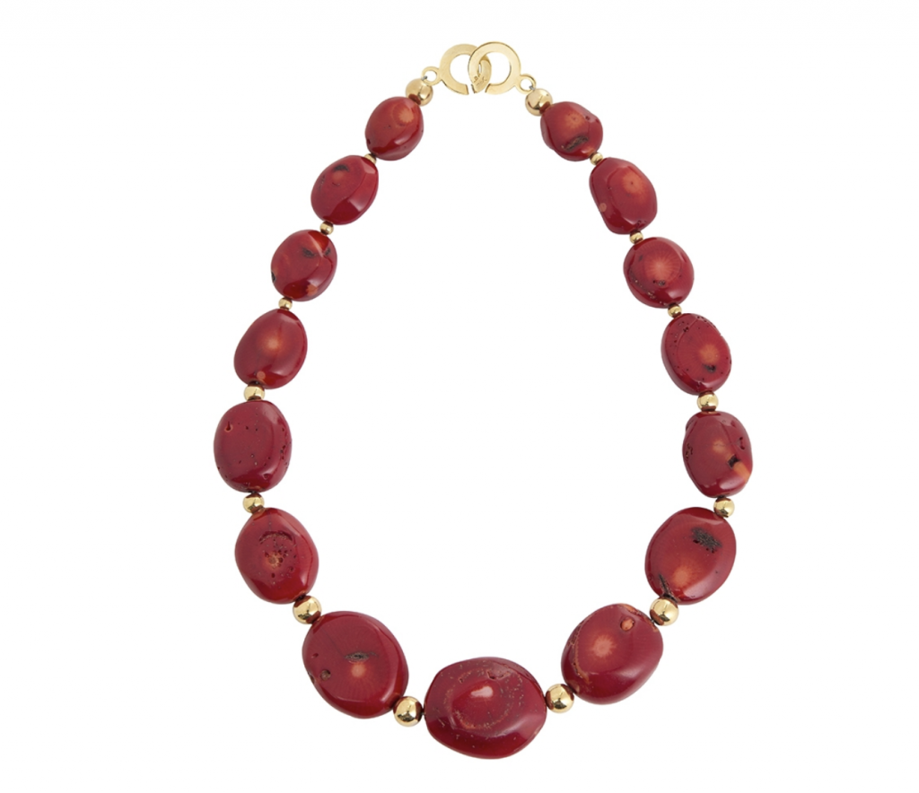 Red coral necklace, €215 at juvidesigns.com