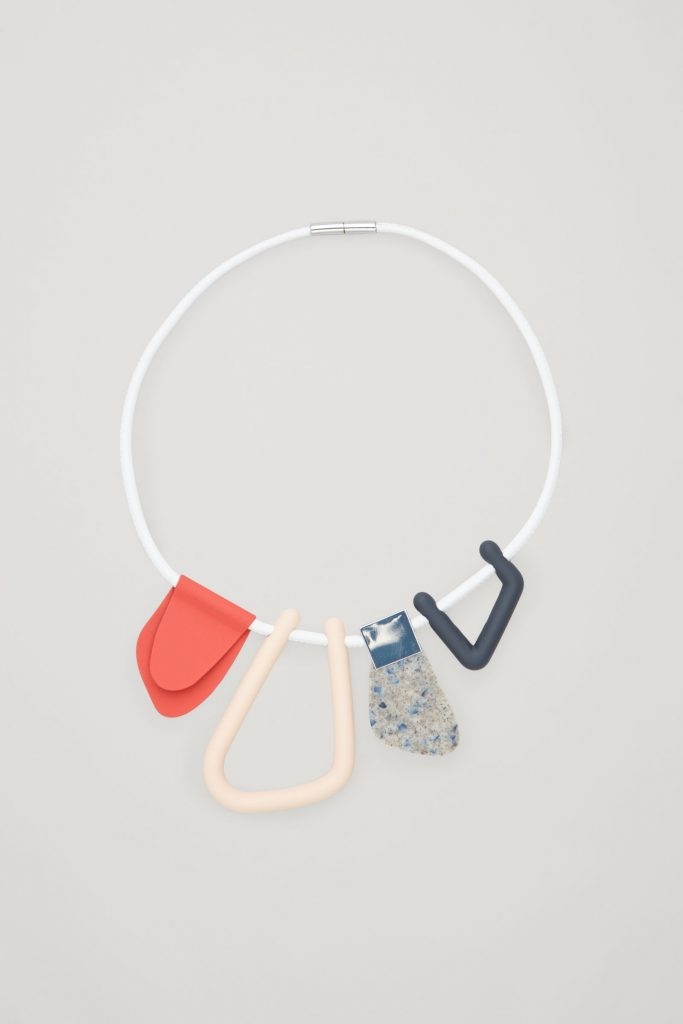 Abstract-shape leather necklace, €49 at cosstores.com