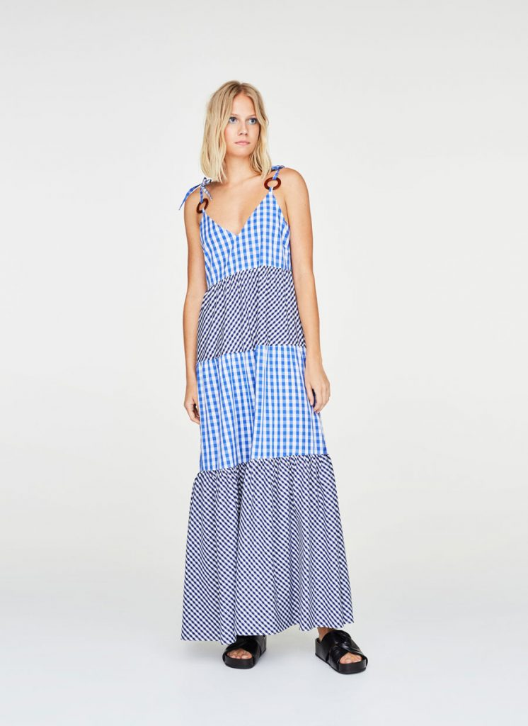 Long gingham checked dress, €115 at uterque.com