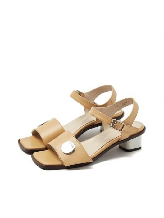 Beige sandals by Loyiq, €243.38 at wconcept.com