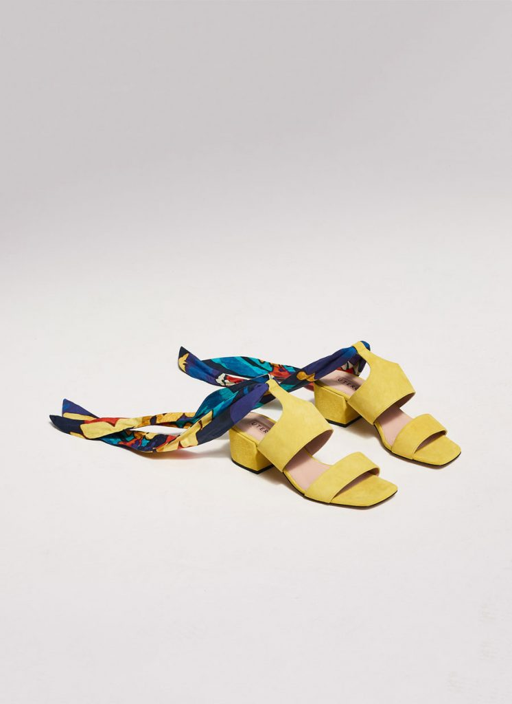 Suede sandals with scarf detail, €115 at uterque.com