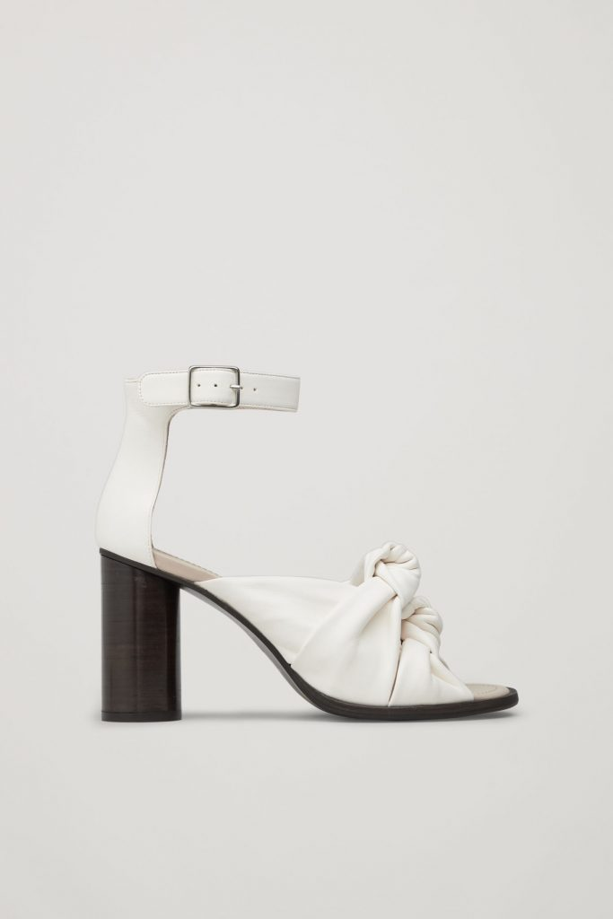 Knot-front leather sandals, €150 at cosstores.com