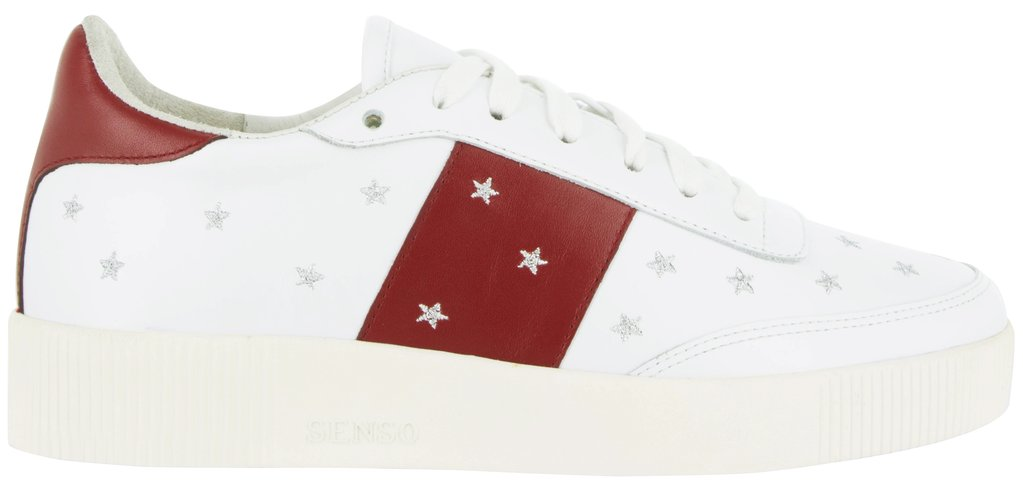 Burgundy stars all over trainers by Senso, €199 at seagreen.ie