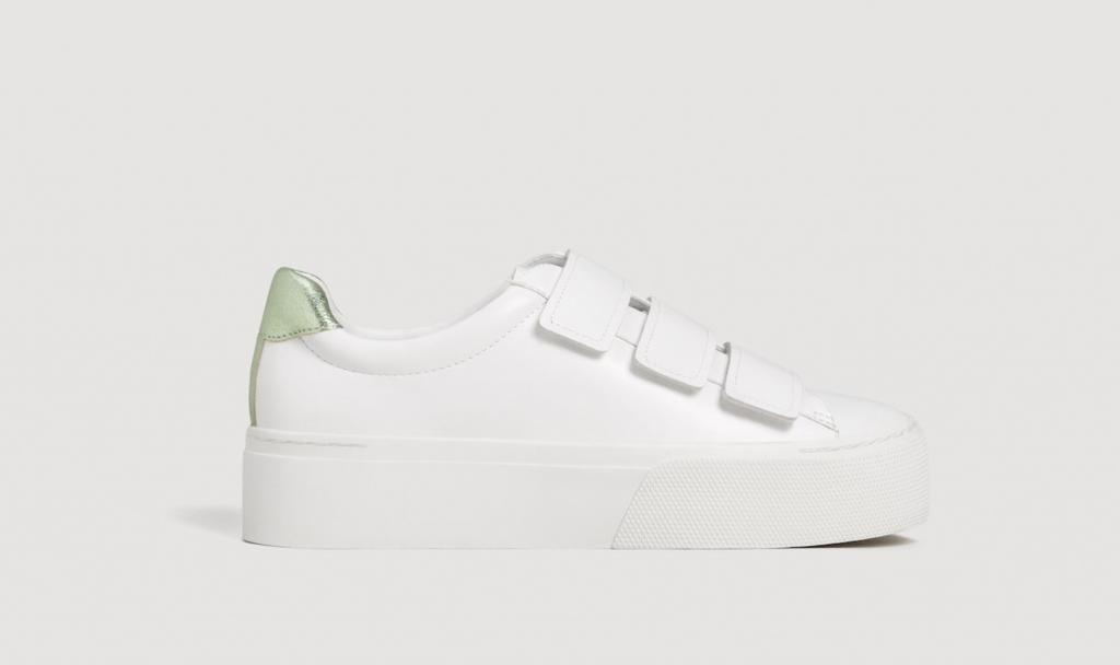Platform velcro fastening sneakers, €39.95 at mango.com