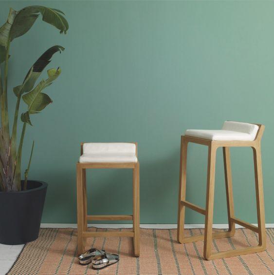 Joe solid oak bar stool from Habitat, around €256.