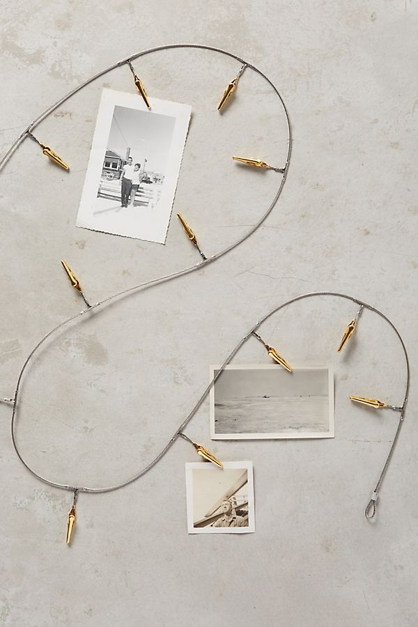 Tinsel photo clips, €16.98 at anthropologie.com