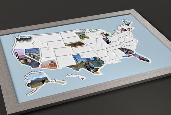 50 states photo map, €51.85 at etsy.com