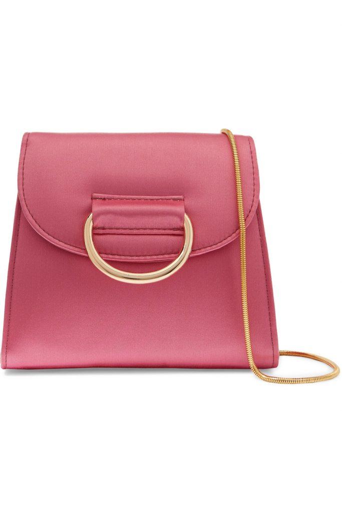 D Tiny Box satin shoulder bag by Little liffner, €14 at net-a-poter.com