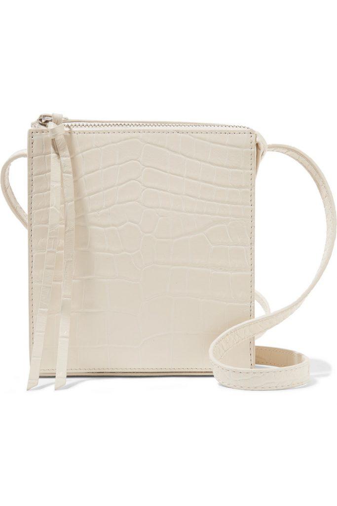 Sara croc-effect leather shoulder bag, €165 at net-a-porter.com