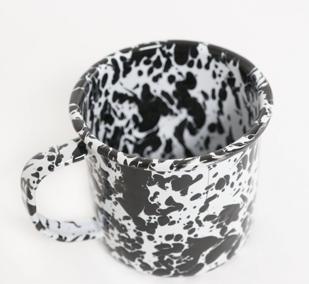 Mug 12oz - black/white splatter, €12 at indigoandcloth.com