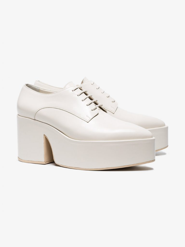 Cream 90 leather creepers by Simone Rocha, €479.82 at brownsfashion.com