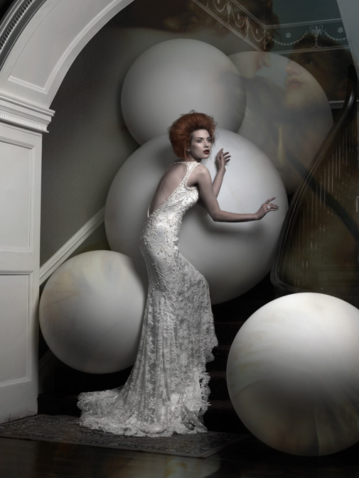 Heavily embellished lace gown by Patrick Casey, from €3,500 - €3,950 atmyrtleivory.com