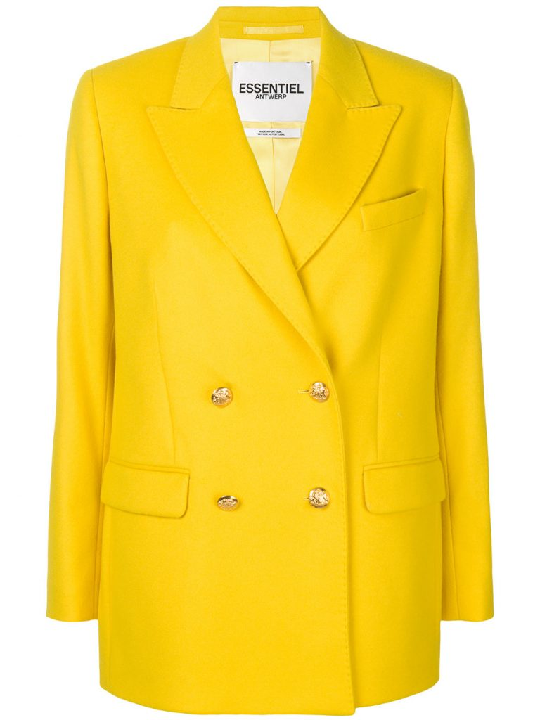 Double breasted blazer by Essential Antwerp, €303 at farfetch.com
