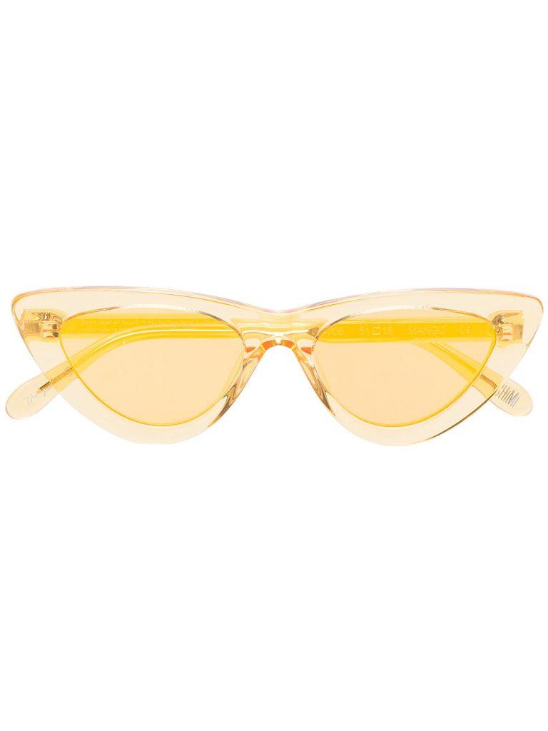 Yellow mango 006 cat eye sunglasses by Chimi, €109 at farfetch.com