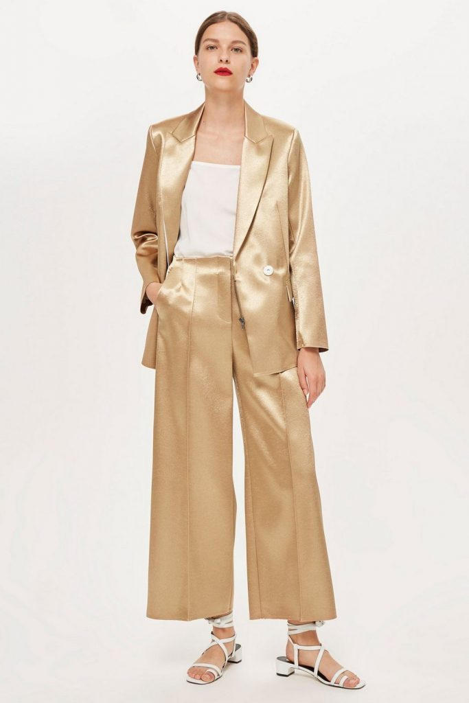 Gold suit by Boutique, €300 at topshop.com