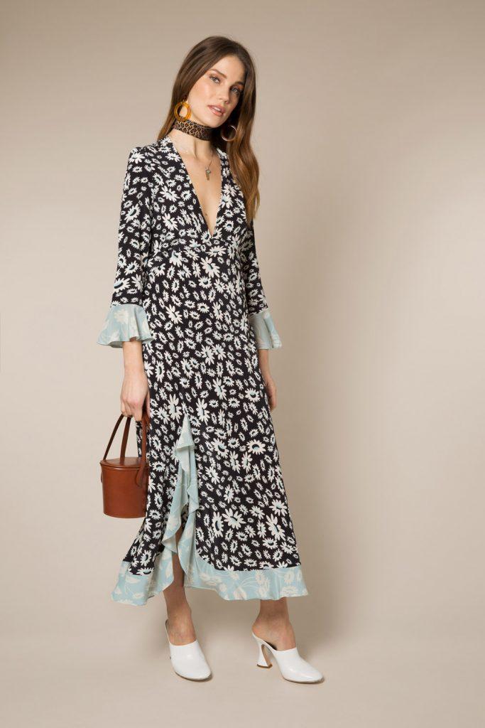 Long sleeved midi dress, €346.28 at rixolondon.co.uk