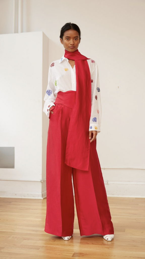 Rainbow shirt, €1112.21, rope-a-dope pants, €1198.10, both at rosieassoulin.com