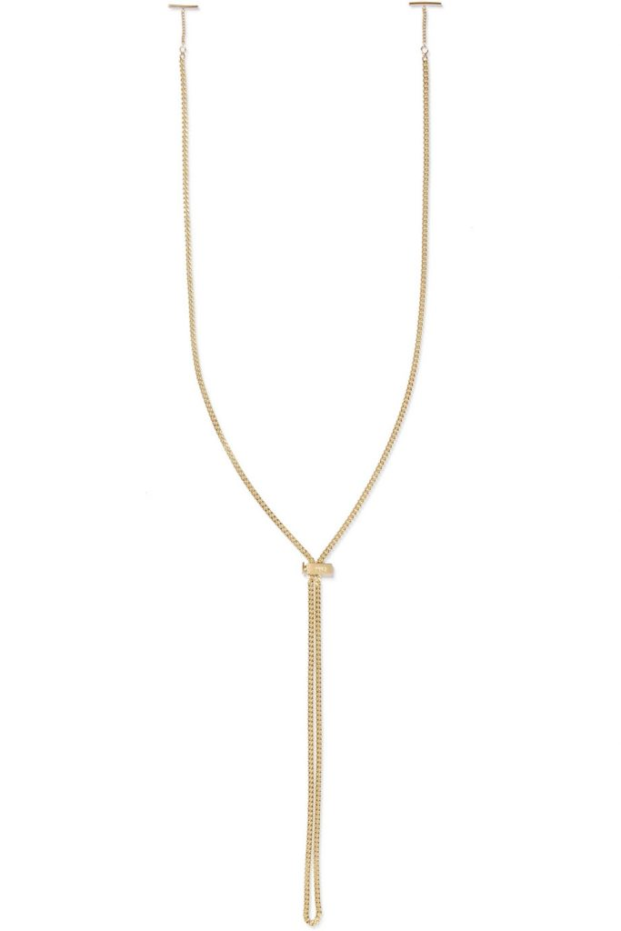 Gold-tone sunglasses chain by Chloé, €160 at net-a-porter.com