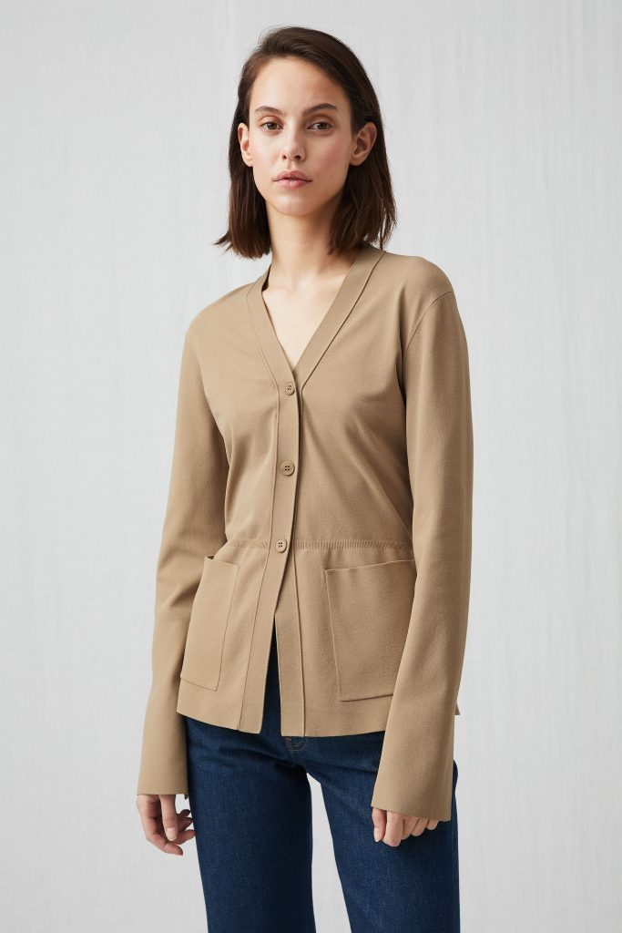 Fitted jersey cardigan, €99 at arket.com