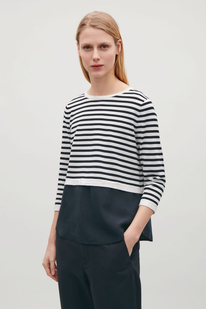 Silk-panelled knit top, €69 at cosstores.com