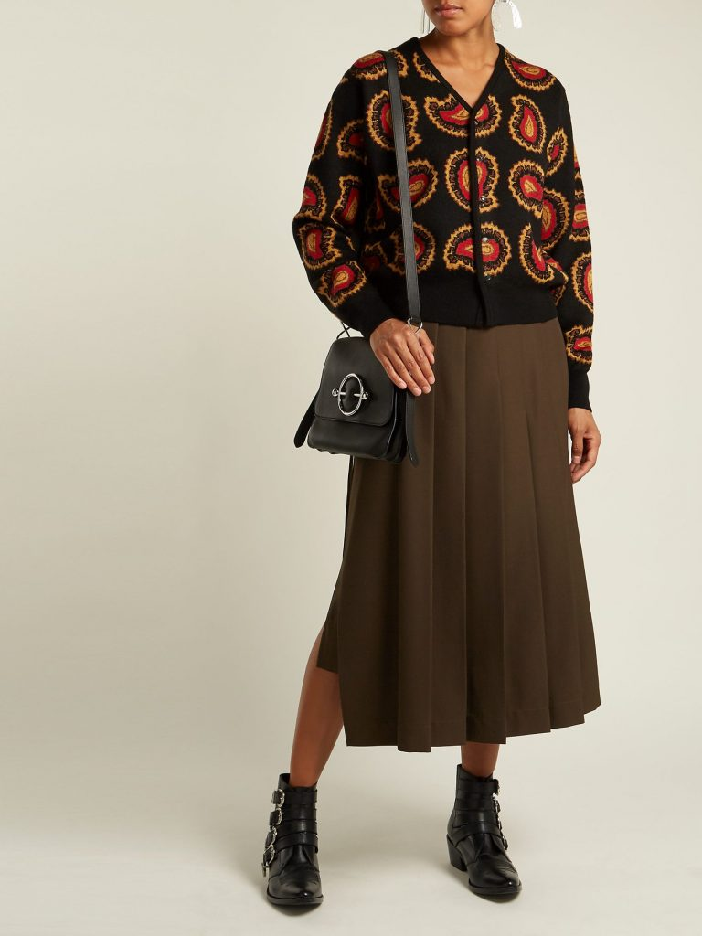 Paisley intarsia-knit V-neck cardigan by Toga, €423 at matchesfashion.com