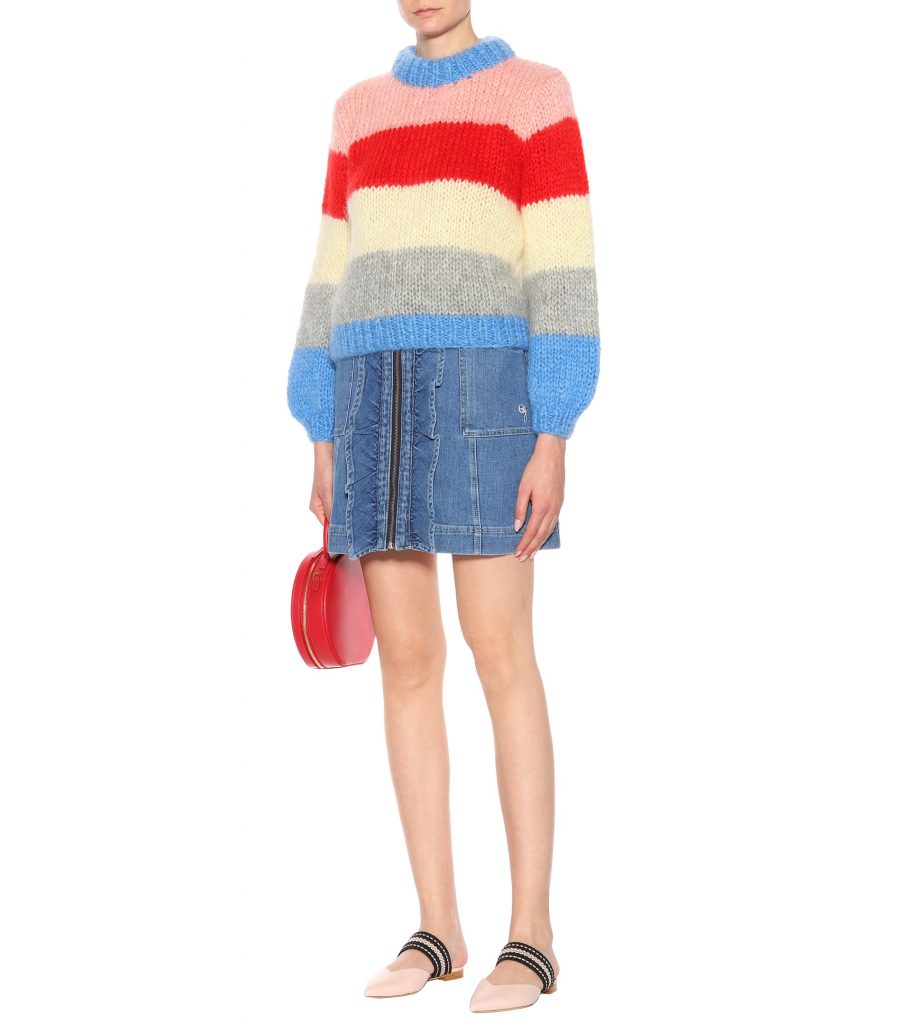 Julliard mohair and wool sweater by Ganni, €273 at mytheresa.com