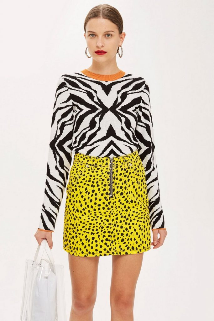 Zebra skinny top, €40 at topshop.com