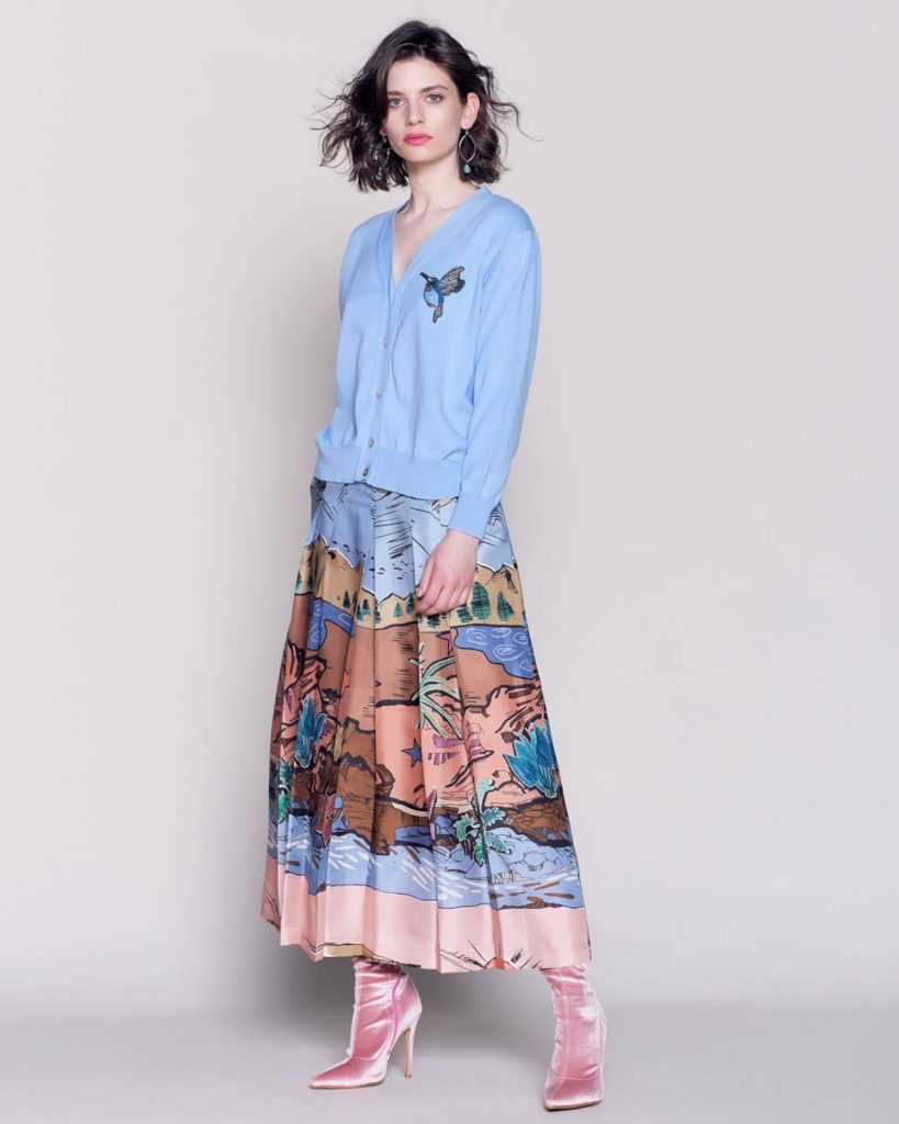 Silk dessert print skirt, €95.98 at avoca.com