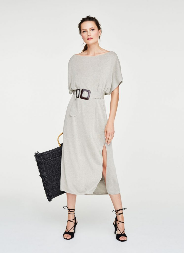 Oversized knitted dress, €115 at uterque.com