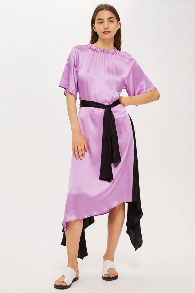 Elastic neck satin maxi dress by Boutique, €155 at topshop.com