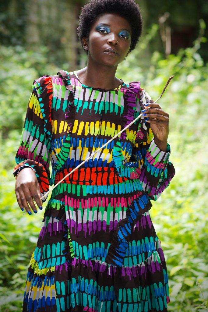Cora dress tribe print, €675 at helensteele.com