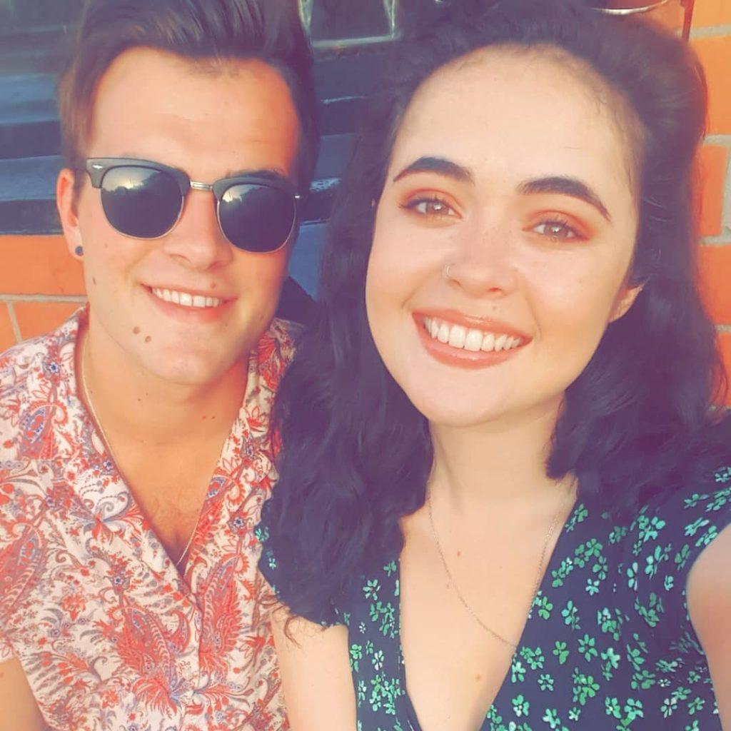 Jade and her boyfriend Dave Meehan. Source: @jadehanley13