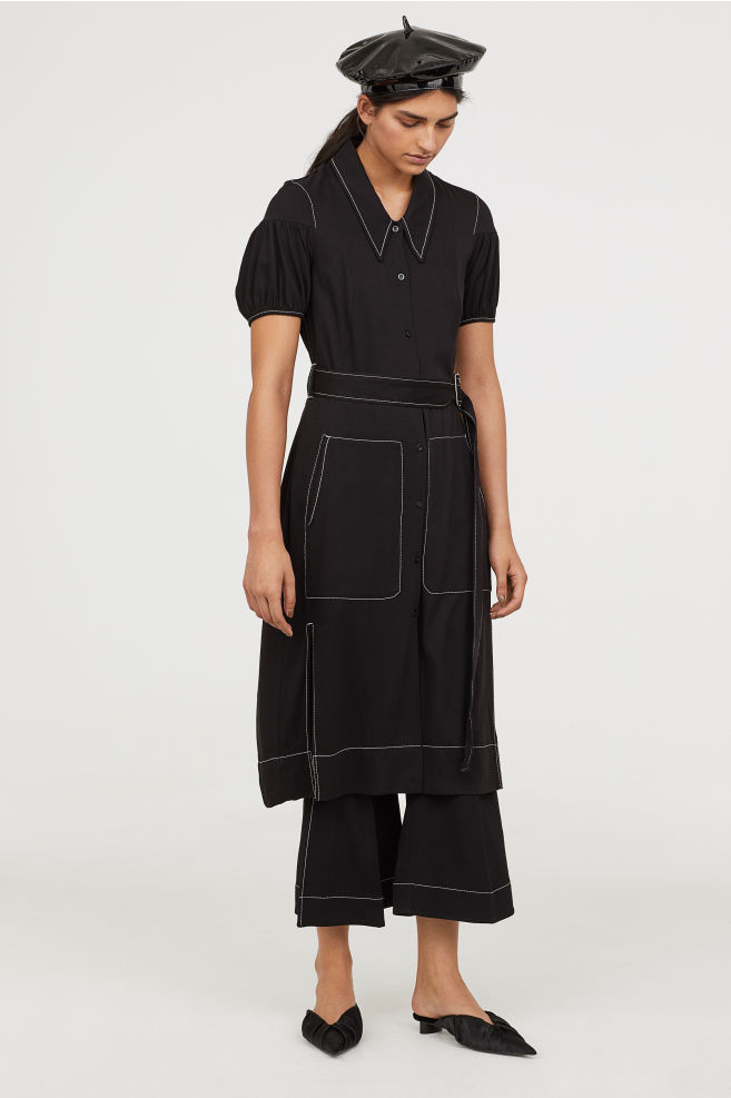 Puff-sleeved shirt dress, €69.99 at H&M