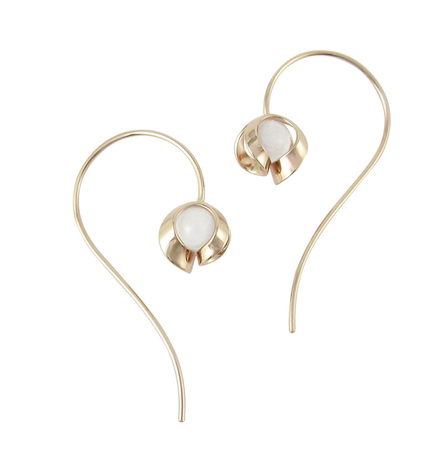 Tuohi 9ct yellow gold medium wire earrings, €295 at corkjewellery.ie