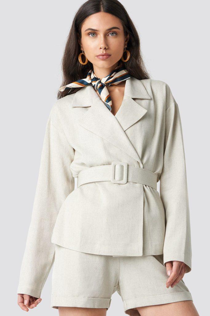 Wide belted oversized blazer, €78.95 at na-kd.com