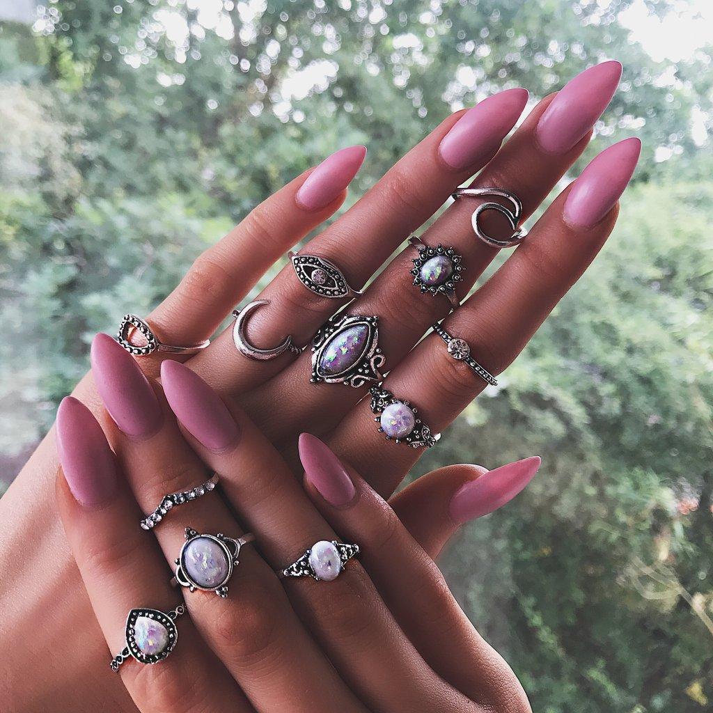 Glow opal ring set, €20.24 at bohomoon.com