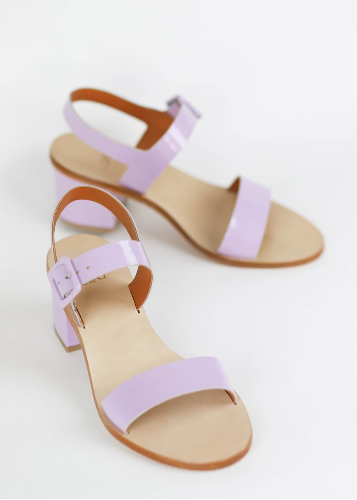 Altea Lila patent sandal, €211.58 at loq.us