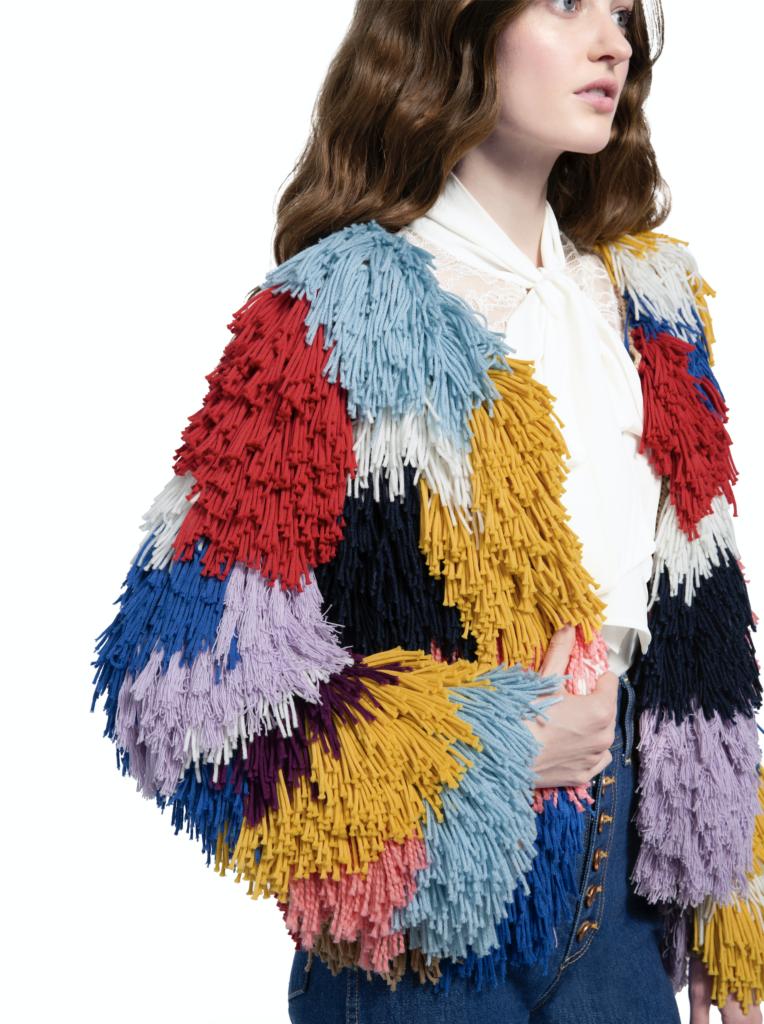 Fawn multi-coloured cardigan, €540.17 at aliceandolivia.com