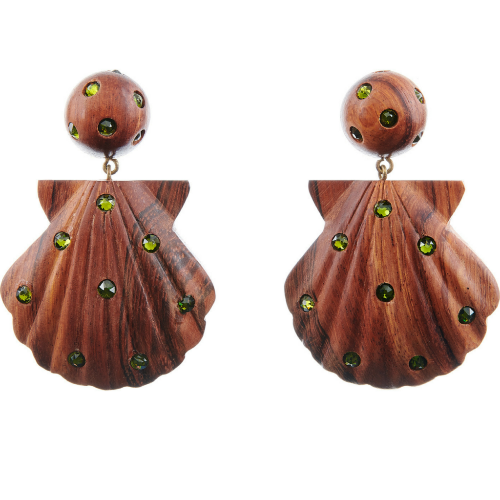 Ariel 2 drop natural earrings, €129.37 at rebeccaderavenel.com