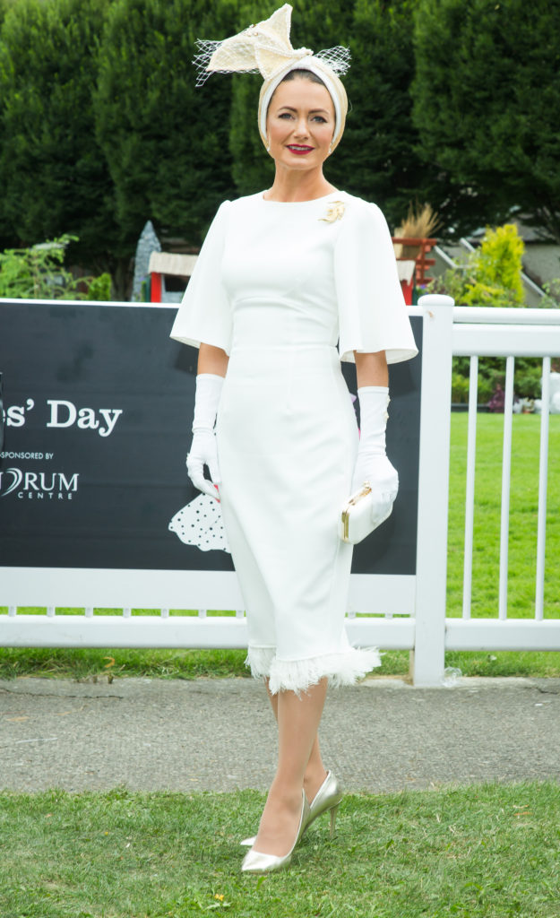 Deirdre Kane from Carlow named 'best dressed' at the Dundrum Town Centre Ladies' Day at the Dublin Horse Show. Photo by Anthony Woods