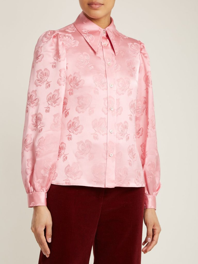 Point-collar floral-jacquard shirt by Alexa Chung, €126 at matchesfashion.com