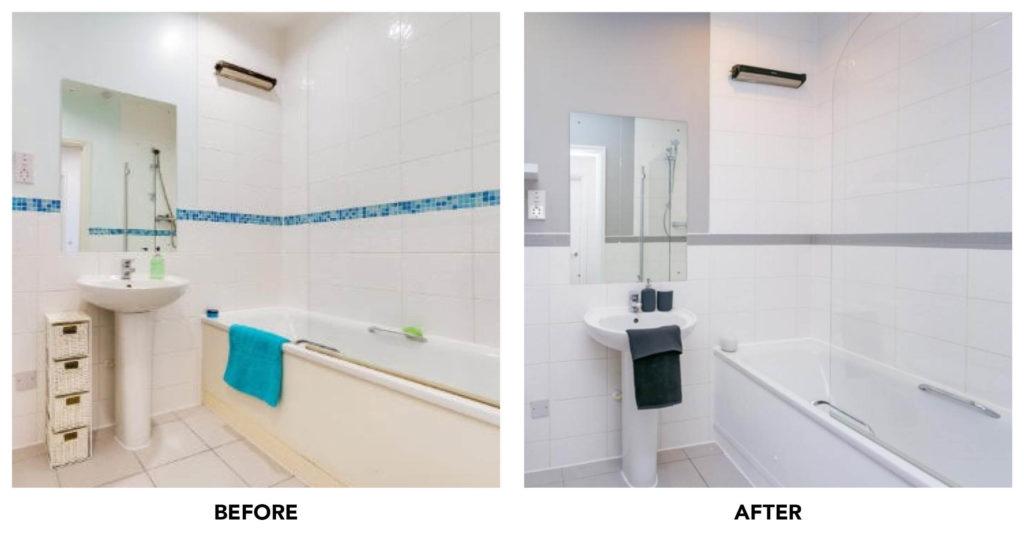 laura de barra bathroom before and after