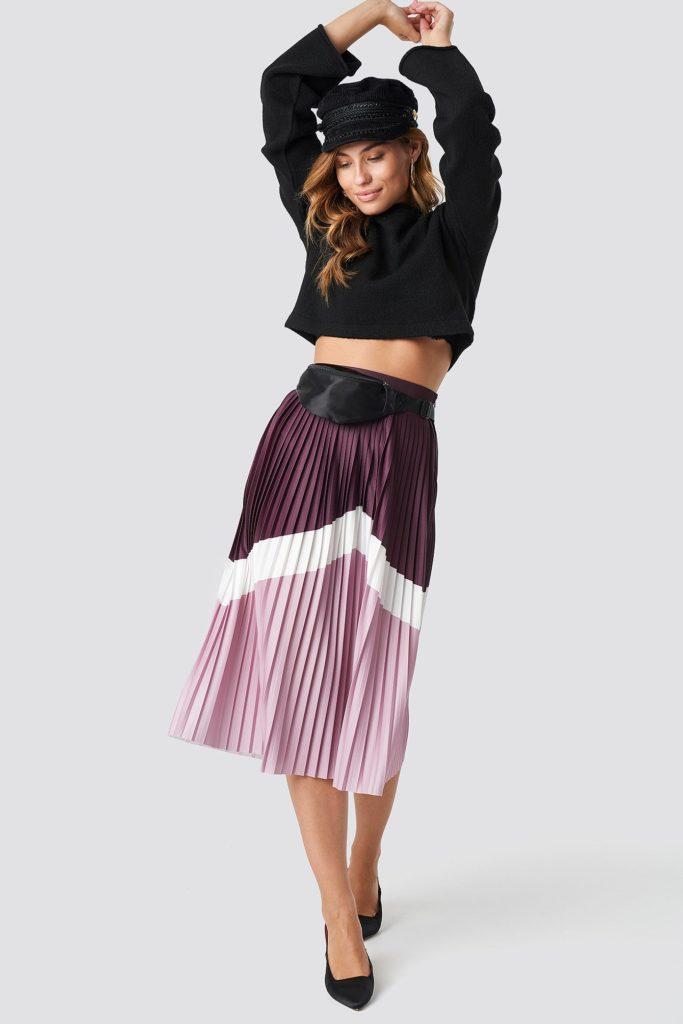 Blocked midi skirt, €33.95 at na-kd.com