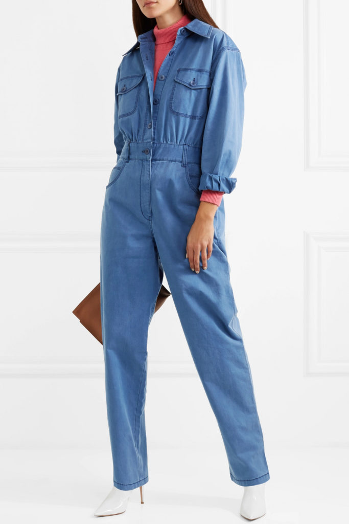 Washed cotton-blend twill jumpsuit by Tibi, €715 at net-a-porter.com