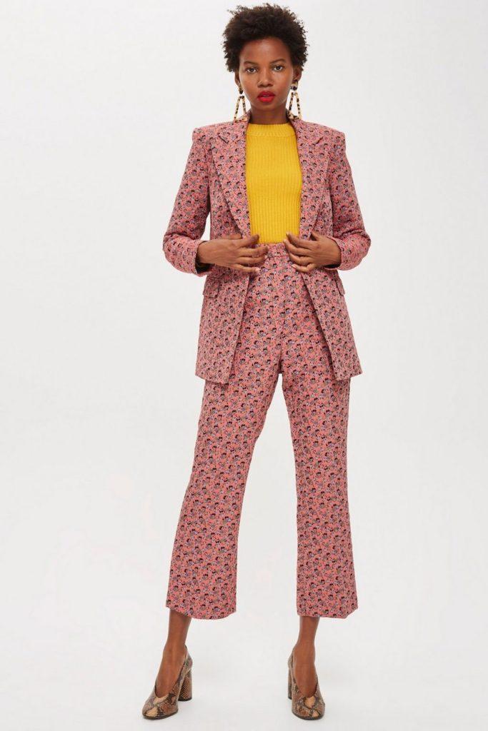 Floral jacquard suit, €157 at topshop.com