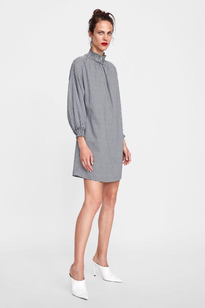 Gingham checked dress, €39.95 at zara.com